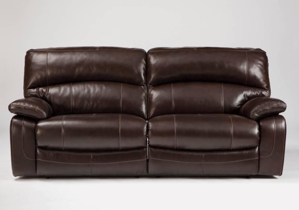Damacio 2 Seat Reclining Power Sofa - Dark Brown