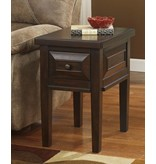Signature Design Hindell Park, Chair Side End Table, Rustic Brown, T695-7