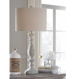 Signature Design Bernadate Whitewash Table Lamp L235344