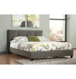 Signature Design Masterton Complete Queen Upholstered Bed- Gray B702-77/74
