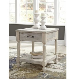 Signature Design Shawnalore- White Wash  Rectangular End Table- T782-3