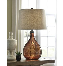 Signature Design Arayna, Glass Table Lamp, Brown, L430344