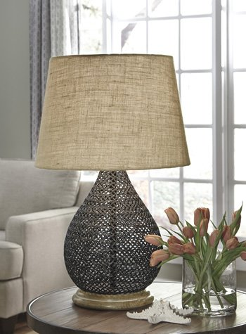 Signature Design Aimon, Metal Table Lamp, Bronze Finish L207064