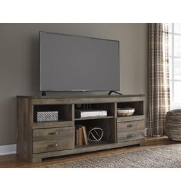 Signature Design Trinell, Large TV Stand With Fireplace Option, Brown, W446-68