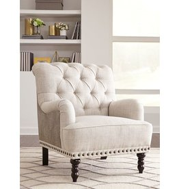 Signature Design Tartonelle Accent Chair Ivory/Taupe- A3000053