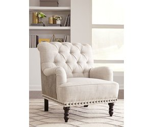 Tartonelle Accent Chair Ivory/Taupe  A3000053   Home Video Library  Electronics