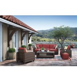 Signature Design Meadowtown- Red Sofa/Chairs/Table Set (4/CN)  P333-081