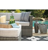 Signature Design Peckham Park 4 Piece RAF/LAF Sectional with Ottoman P320-850/880