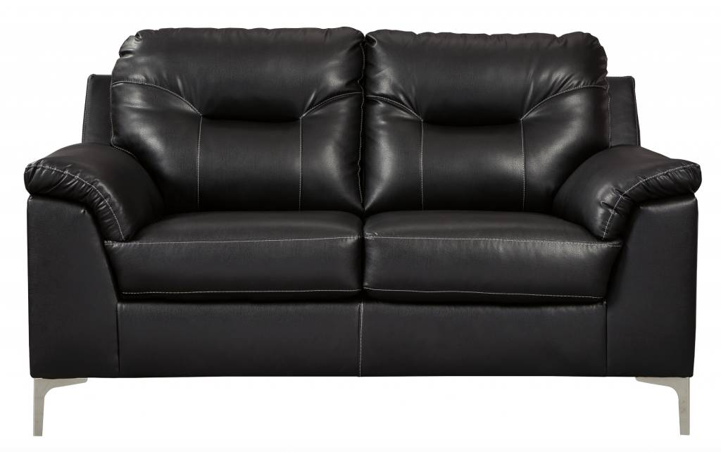Benchcraft Tensas Loveseat- Black Faux Leather 3960435