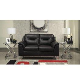 Benchcraft Tensas Loveseat- Black Faux Leather 3960435