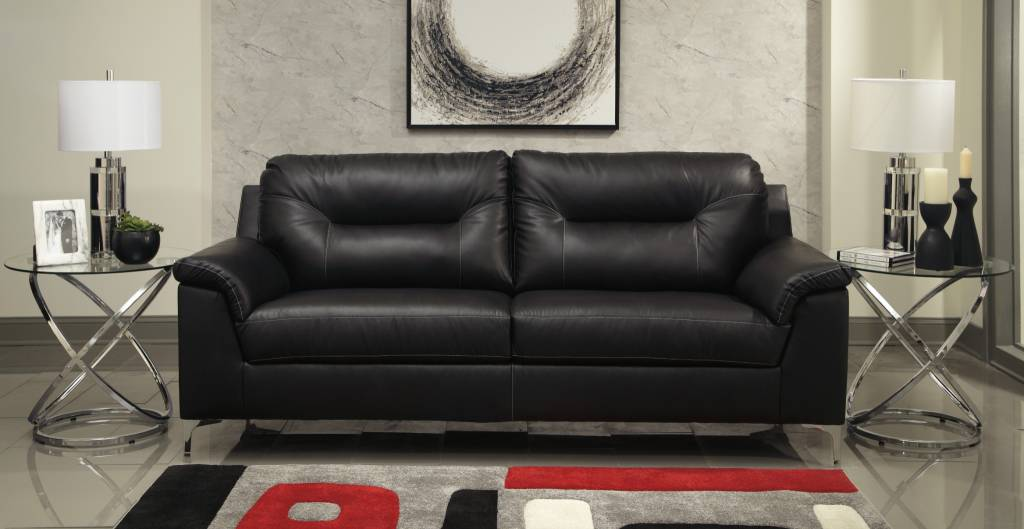 benchcraft tensas sofa black faux leather 3960438 - Sofa Leather