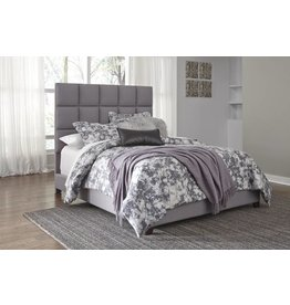 Signature Design Dolante- QUEEN UPHOLSTERED BED, Grey B130-381