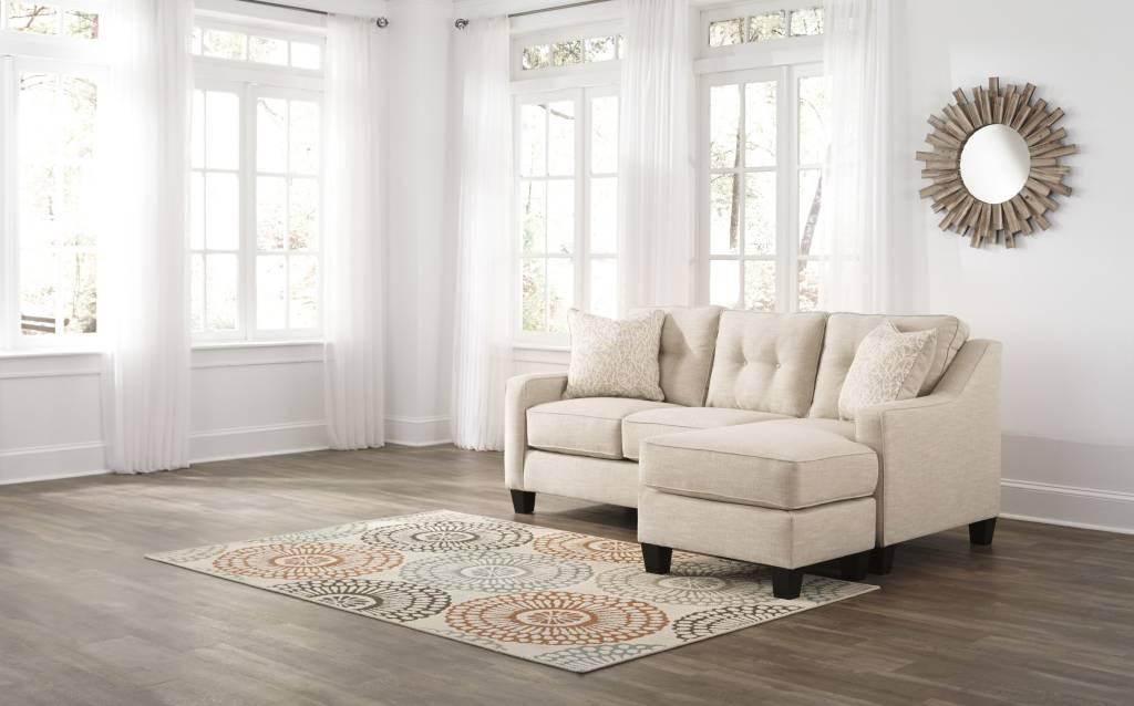 Signature Design Aldie- Nuvella, Sand Reversibe Sofa Chaise 6870518
