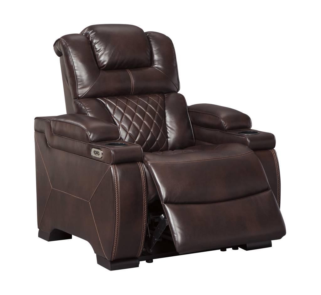 Signature Design Warnerton Power Recliner w/ Adjustable Headrest- Chocolate 7540713