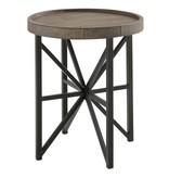 Benchcraft Cazentine- Round End Table- Grayinsh Brown/Black T723-6
