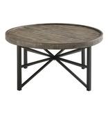 Benchcraft Cazentine- Round Cocktail Table- Grayish Brown/Black T723-8