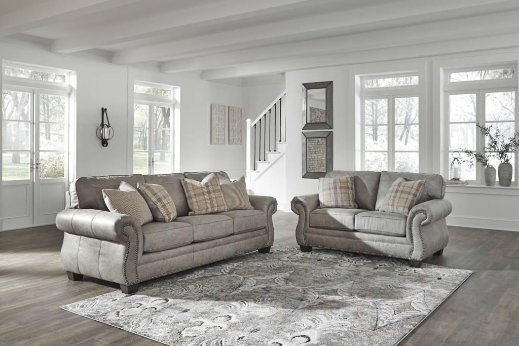 Signature Design Olsberg Sofa Steel Gray 4870138