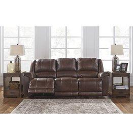 Signature Design Reclining POWER Sofa, Perisphone, Leather- Canyon Color 6070287
