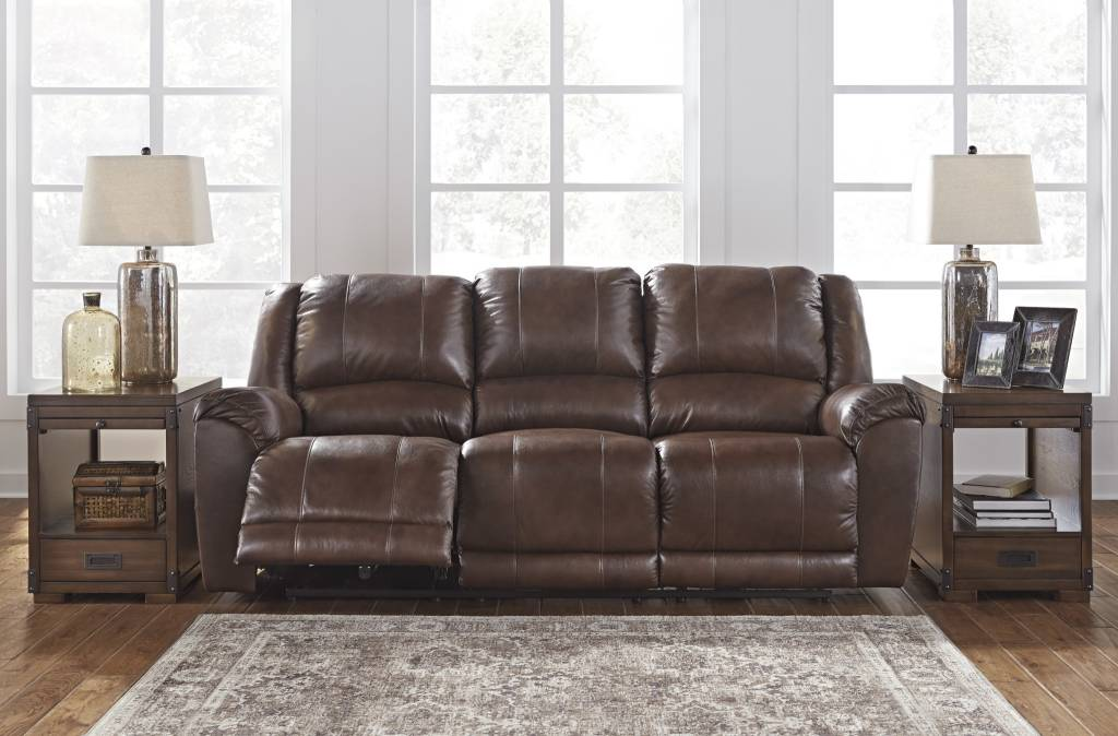Wonderful Signature Design Reclining Leather Sofa  Persiphone, Canyon Color 6070288  ...