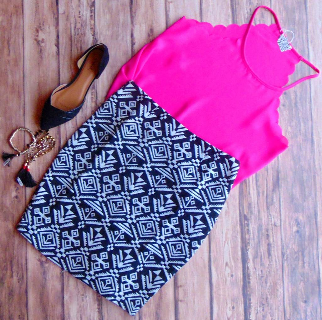 Anything is Possible Printed Skirt