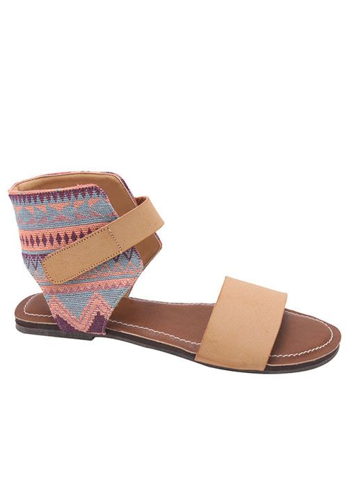 Happy Thoughts Aztec Sandals (REGULAR PRICE FOR BLACK - $32)