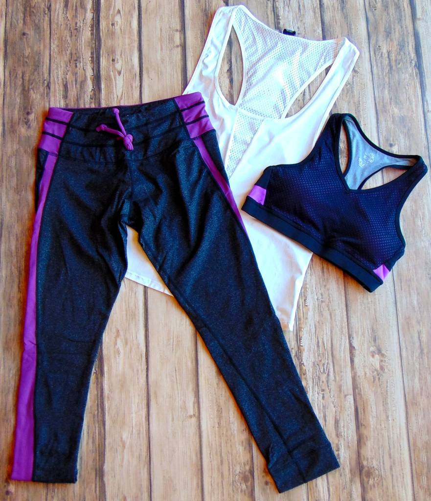 Heathered Color Block Fitness Leggings