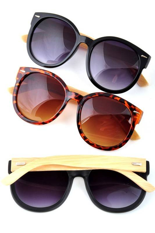 Oversized Wood Accent Sunnies
