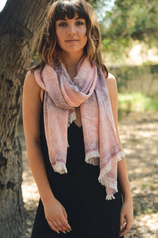 Floral Printed Woven Scarf