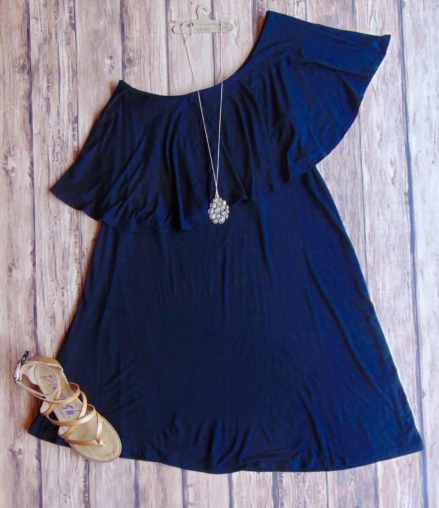 Every Day Will Get Better One Shoulder Dress