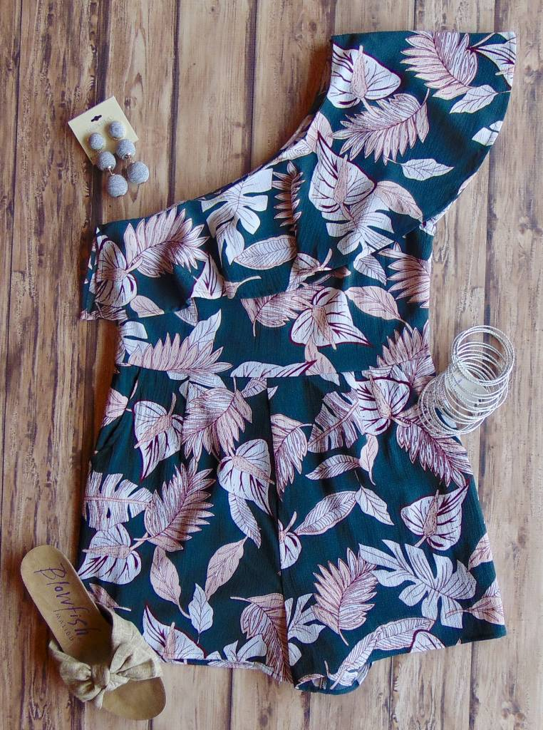 Can't Fight This Feeling One-Shoulder Romper