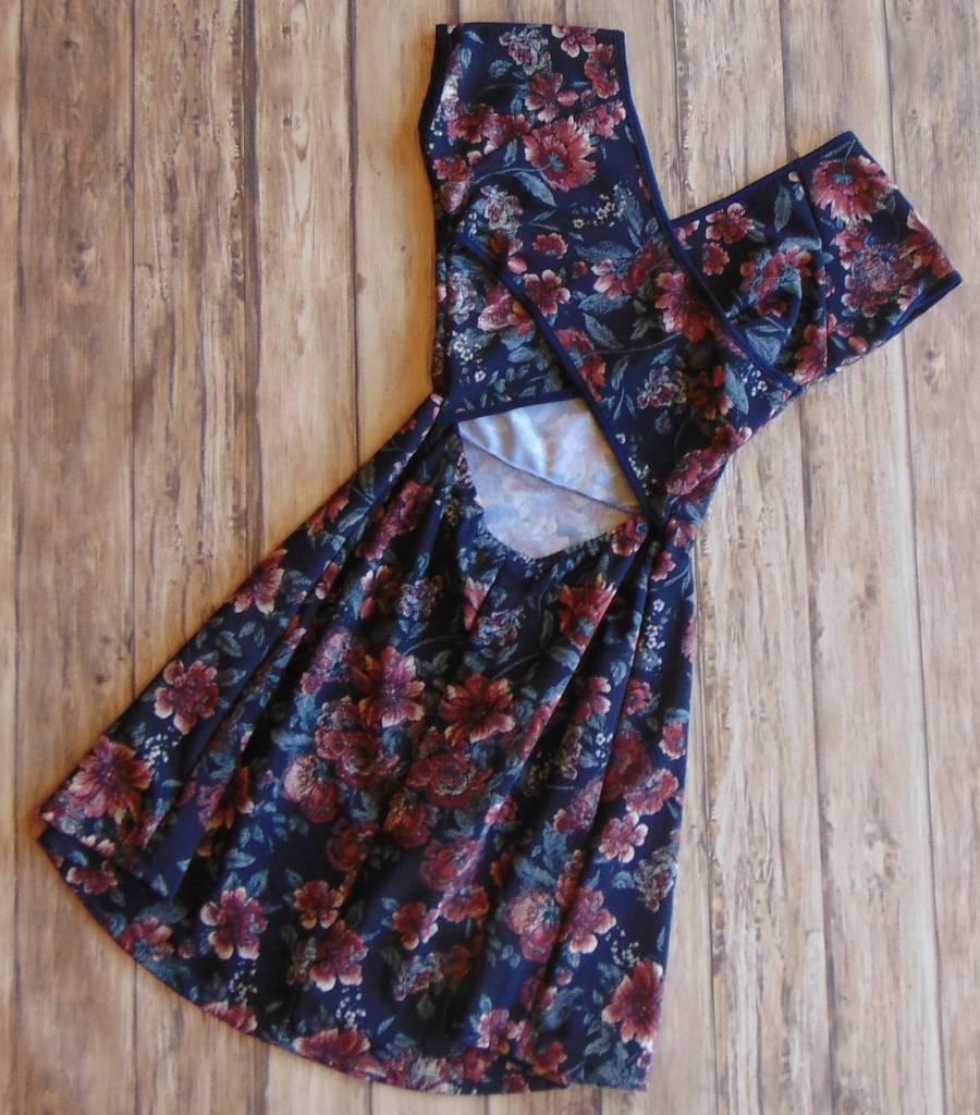 Far More Than Flowers Cutout Dress