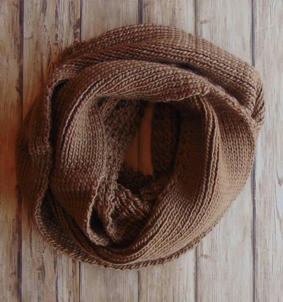 Oversized Knit Infinity Scarf