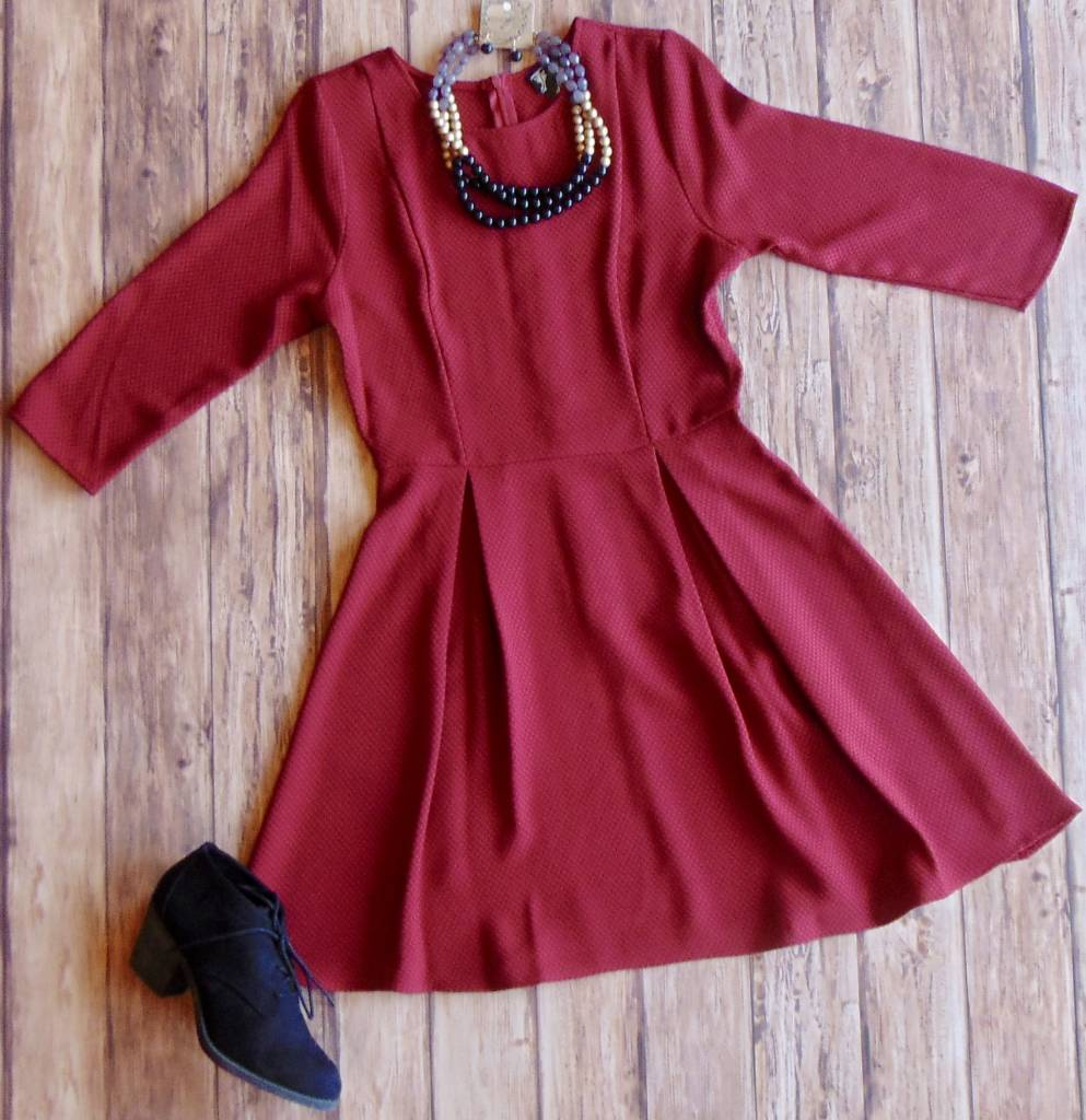 Nothing to Lose Pleated Dress