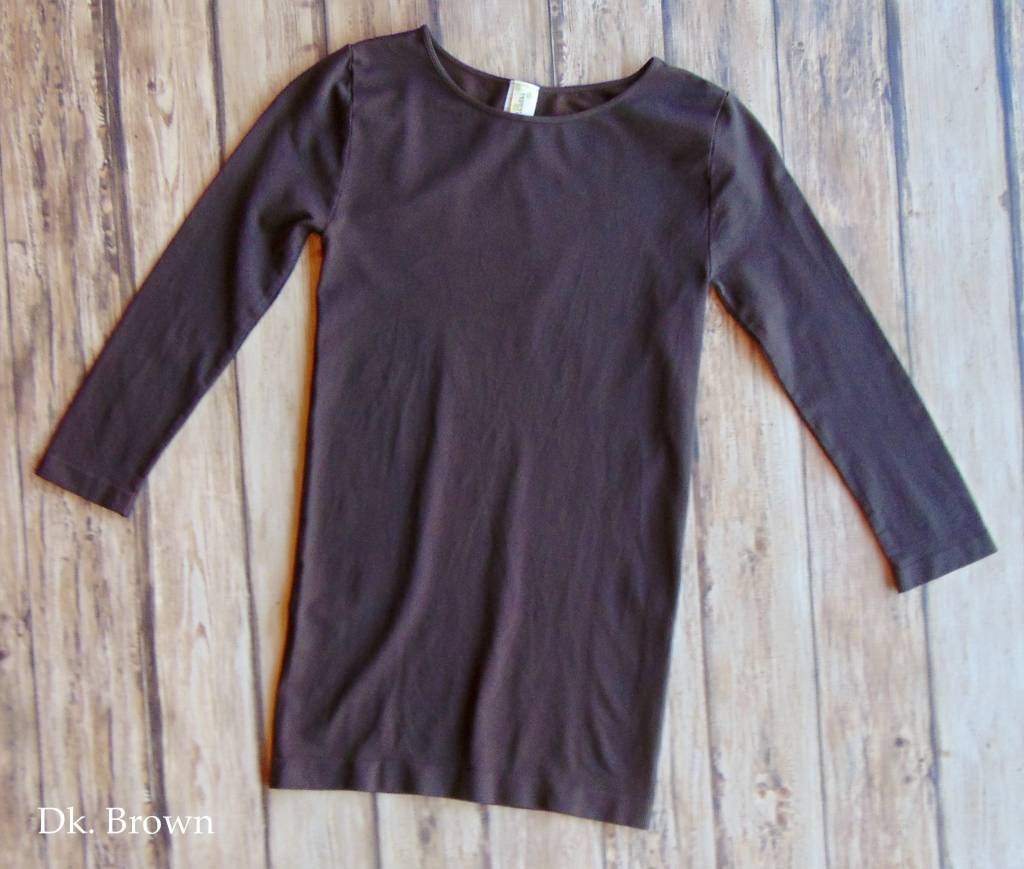 Seamless 3/4 Length Sleeve Top