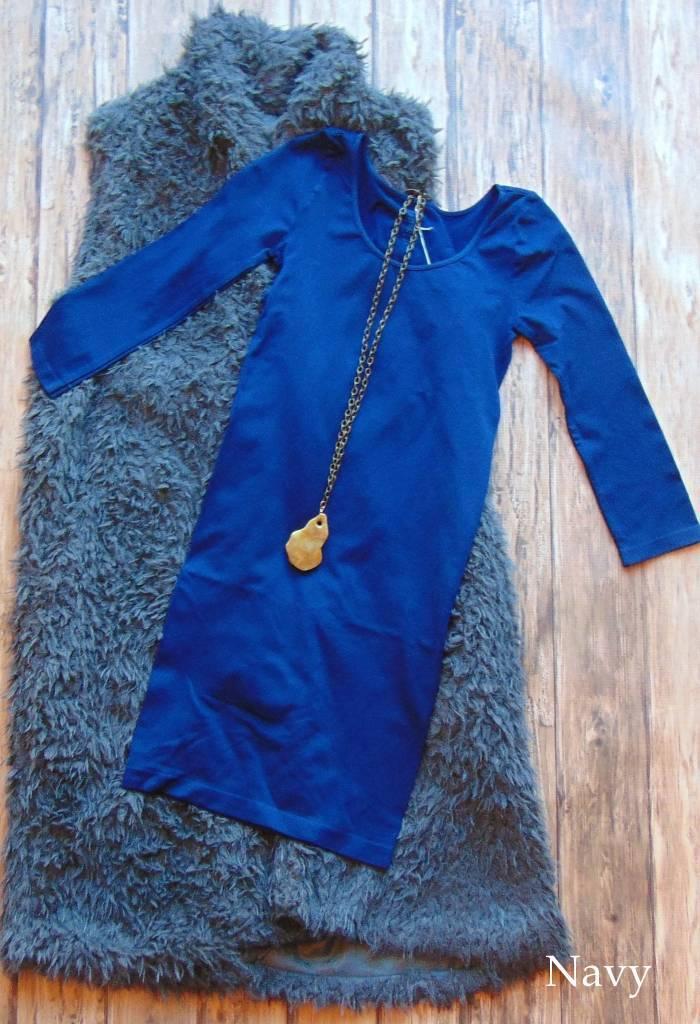 Tunic Length 3/4 Sleeve Seamless Top