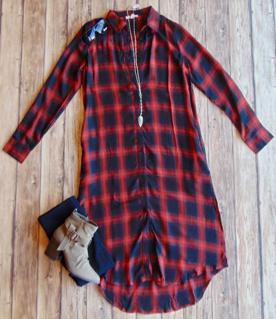 It's All For You Shirt Dress