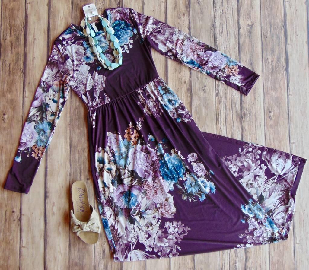 Fall Florals Maxi Dress