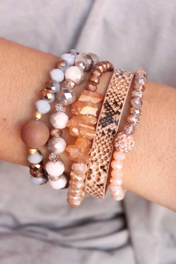 Cald Snake Skin Bracelet Set