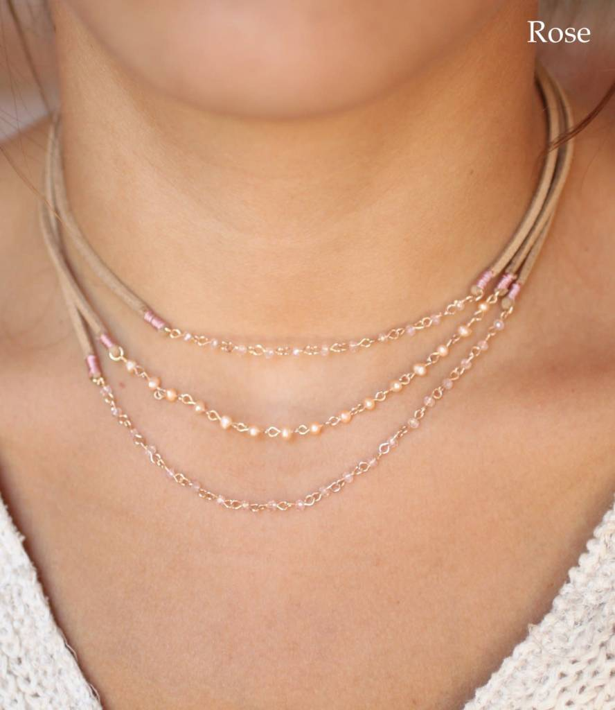 Thora Suede and Pearl Choker