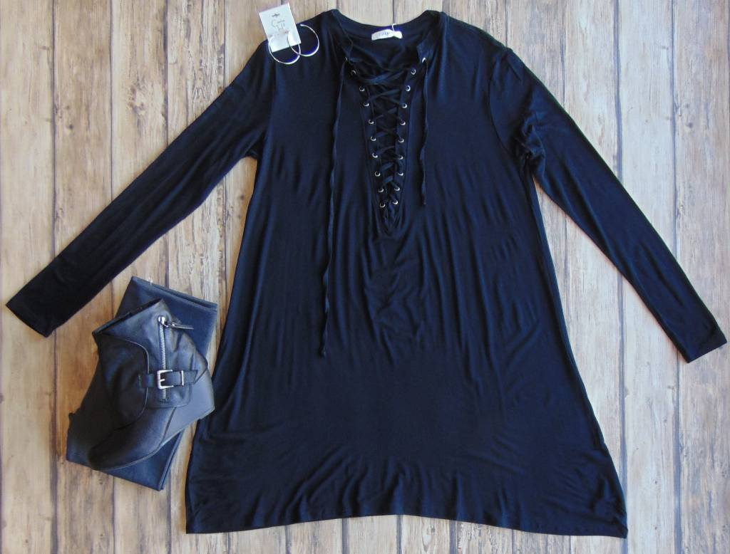 Next To You Lace Up Tunic