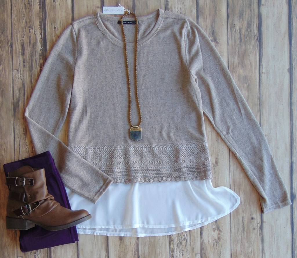 Love The Lace Sweater