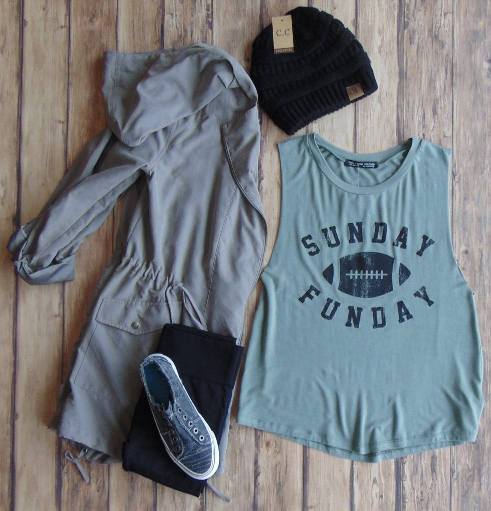 """Sunday Funday"" Muscle Tee"