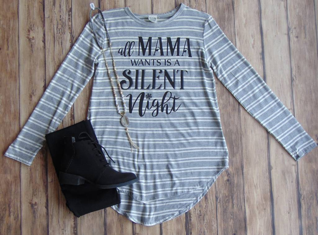 """""""All Mama Wants"""" Striped Top"""