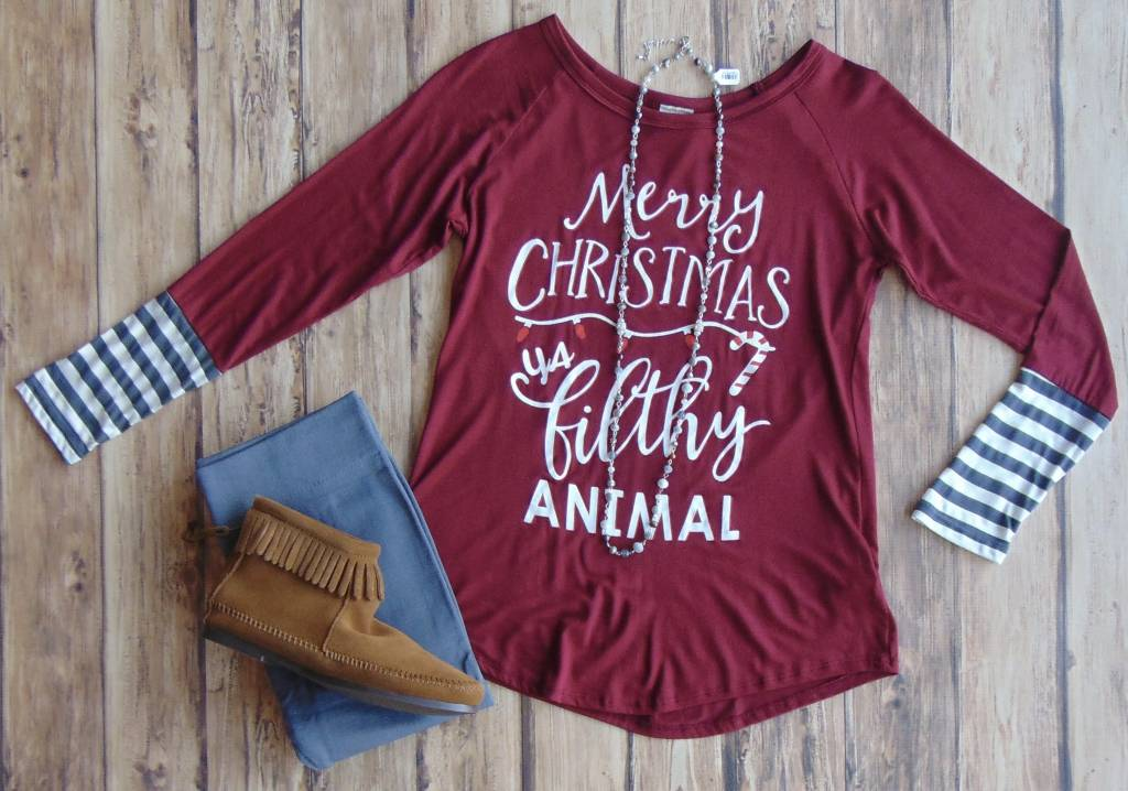 """Merry Christmas..."" Long Sleeve Tee"