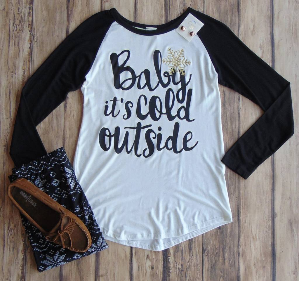 """Baby It's Cold Outside"" Raglan Top"
