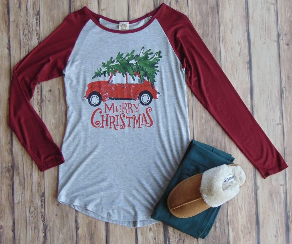 """""""Merry Christmas"""" Raglan"""