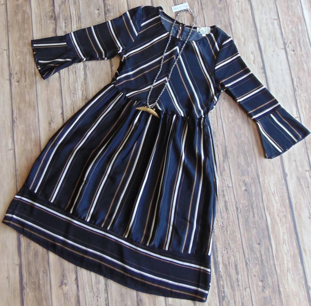 Vintage Flare Midi Dress