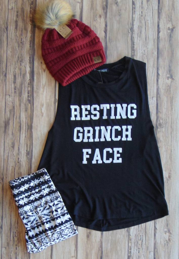 """""""Resting Grinch Face"""" Muscle Tee"""
