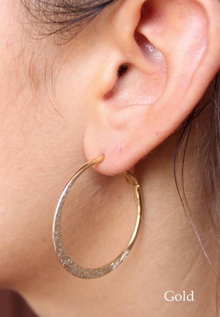 Small Flat Hoop Earrings