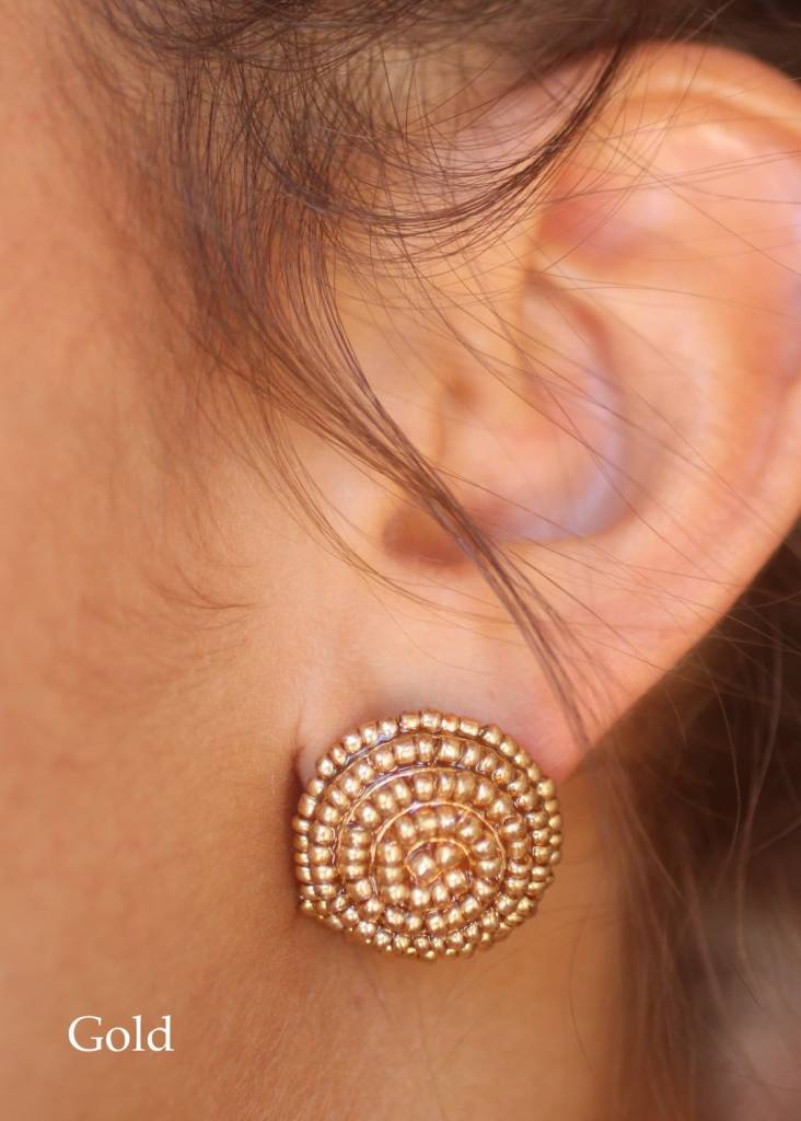 Dolly Seed Bead Studs